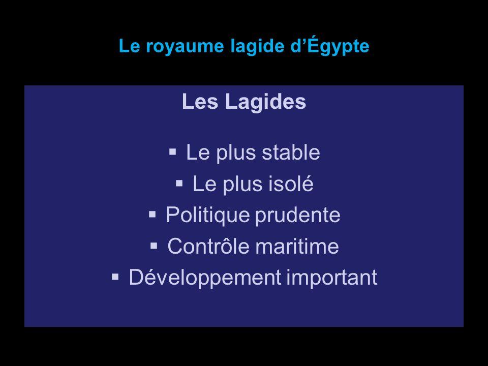 Le royaume lagide d'Égypte