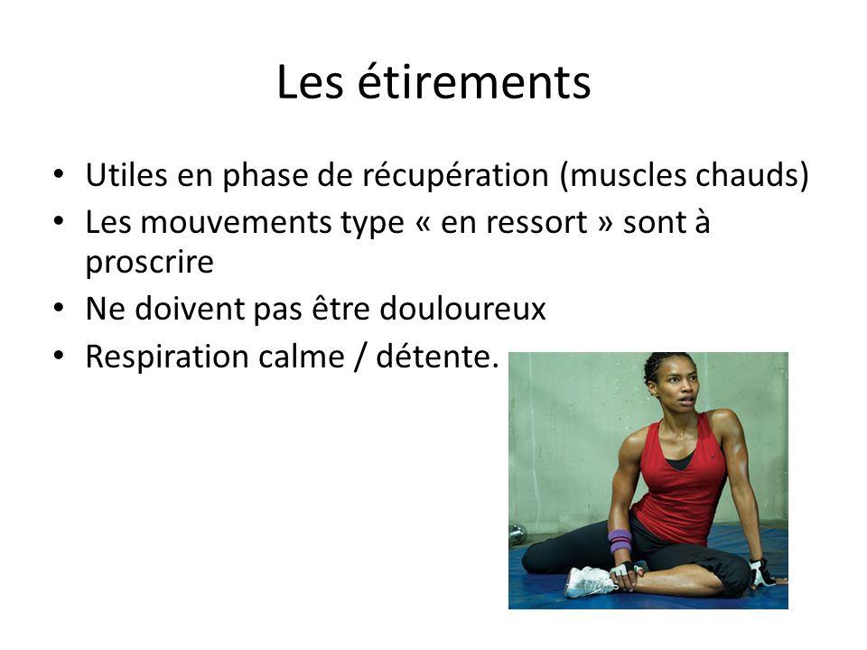 Les étirements Utiles en phase de récupération (muscles chauds)