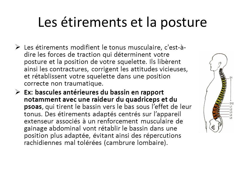 Les étirements et la posture