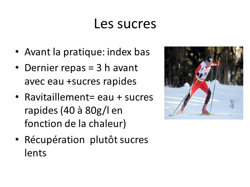 Les sucres Avant la pratique: index bas