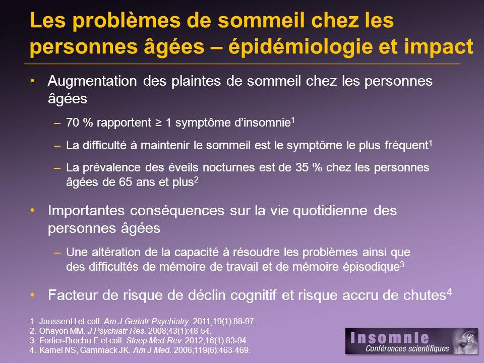 Les problèmes de sommeil chez les personnes âgées – épidémiologie et impact