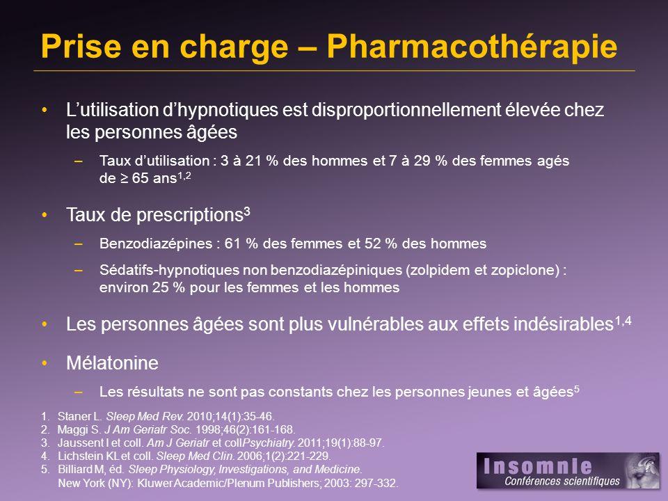 Prise en charge – Pharmacothérapie