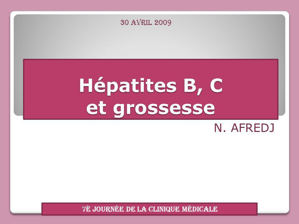 Hépatites B, C et grossesse