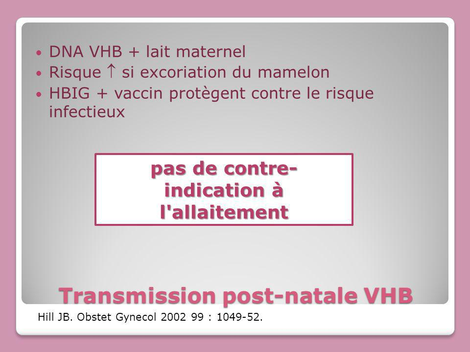 Transmission post-natale VHB
