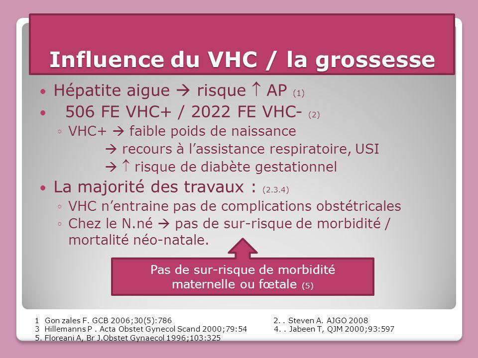 Influence du VHC / la grossesse