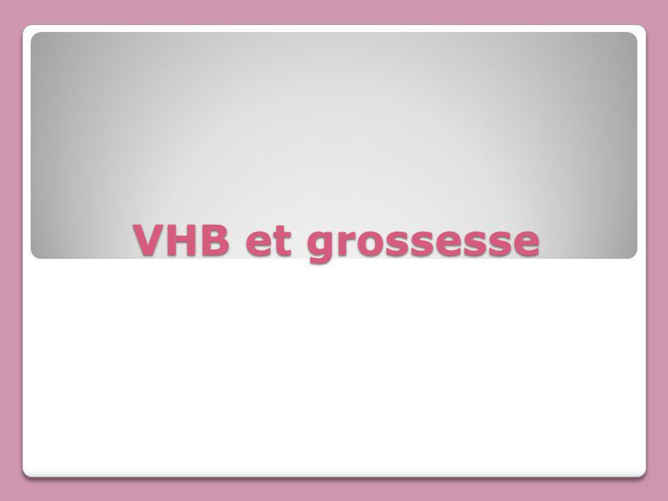 VHB et grossesse
