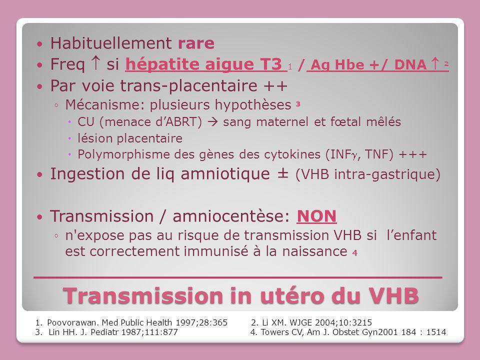 Transmission in utéro du VHB