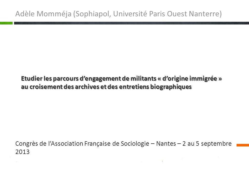 Adèle Momméja (Sophiapol, Université Paris Ouest Nanterre)