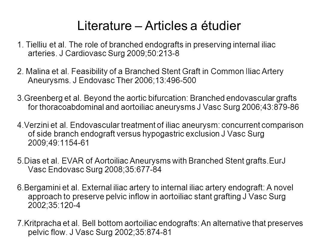 Literature – Articles a étudier