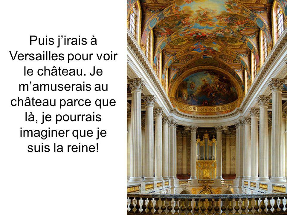 Puis j'irais à Versailles pour voir le château