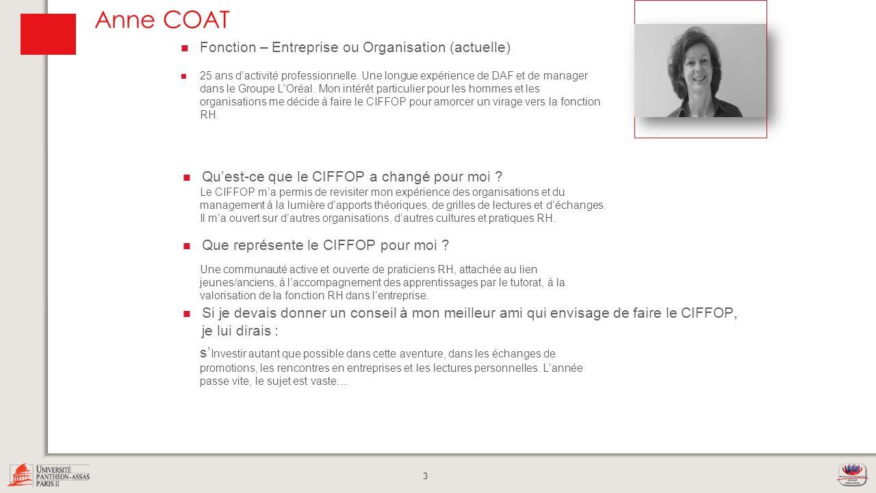 Anne COAT Photo Fonction – Entreprise ou Organisation (actuelle)