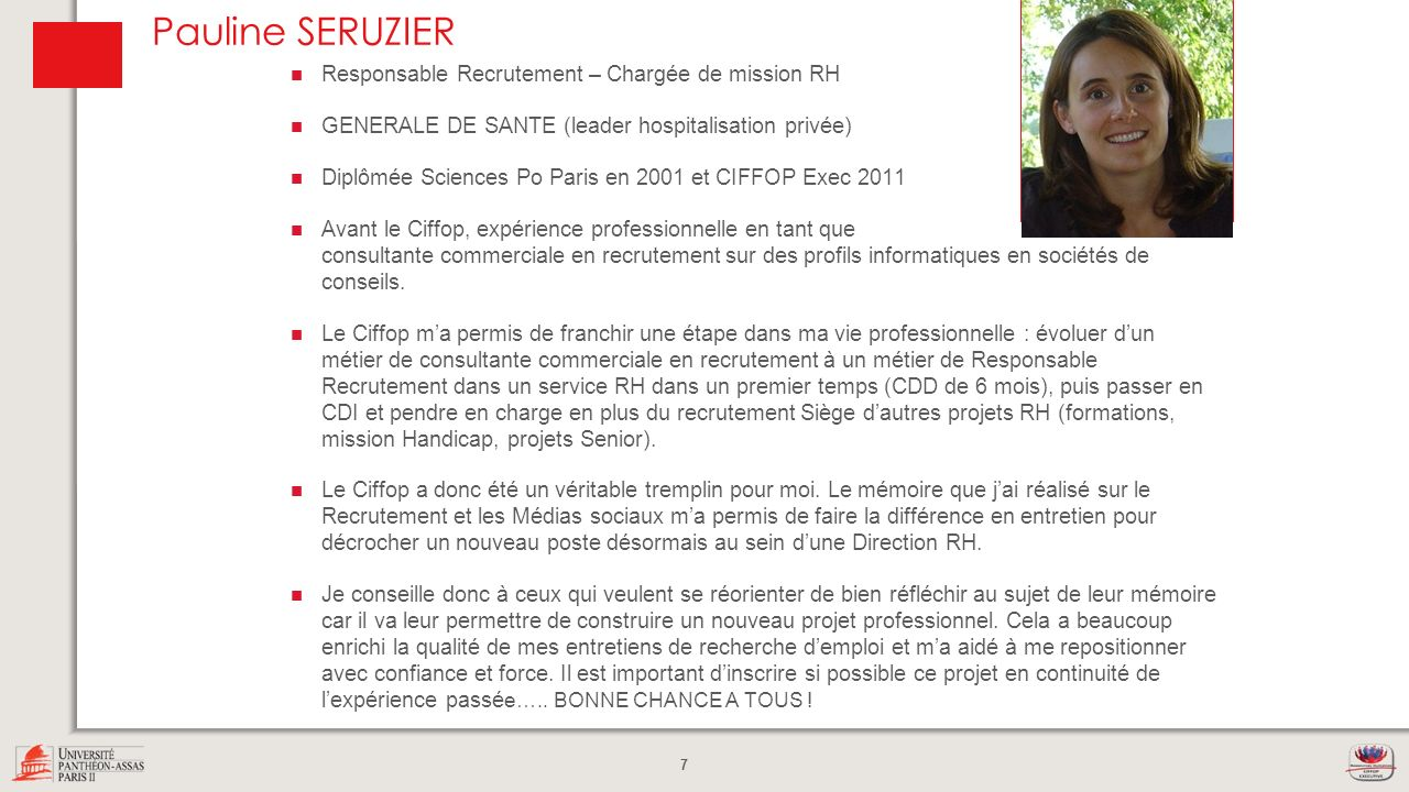 Pauline SERUZIER Photo Responsable Recrutement – Chargée de mission RH