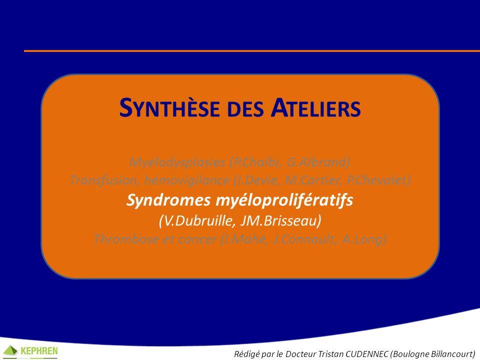 Syndromes myéloprolifératifs