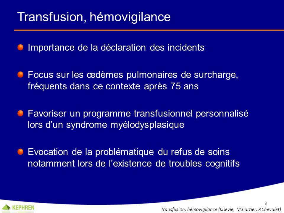 Transfusion, hémovigilance