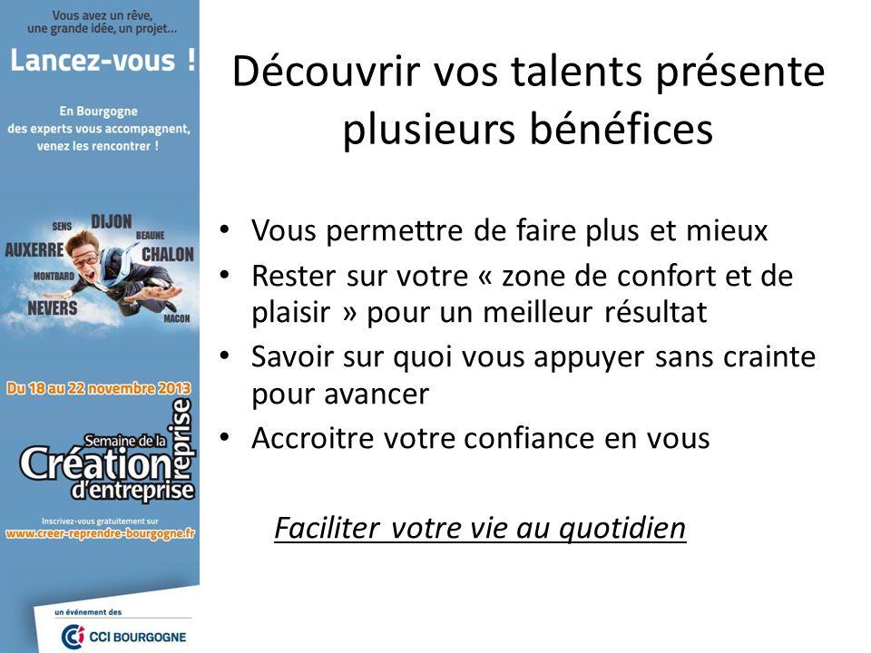 Découvrir vos talents présente plusieurs bénéfices