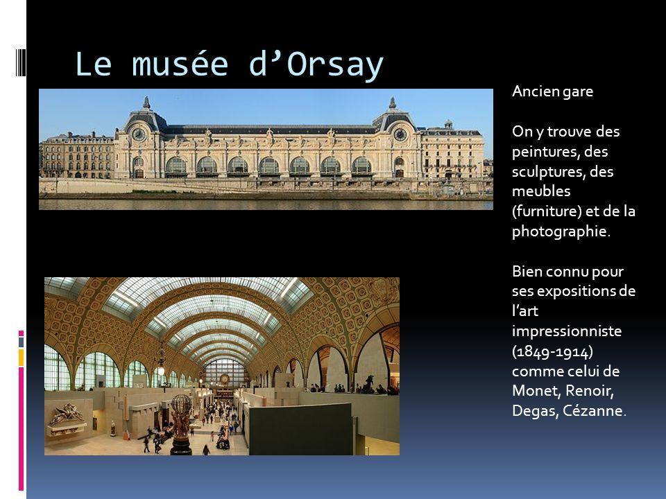 Le musée d'Orsay Ancien gare