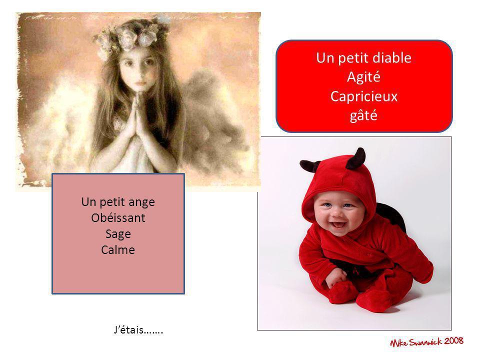 Un petit diable Agité Capricieux gâté Un petit ange Obéissant Sage