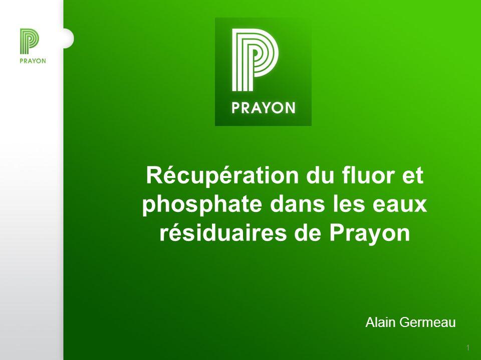 Récupération du fluor et phosphate dans les eaux résiduaires de Prayon