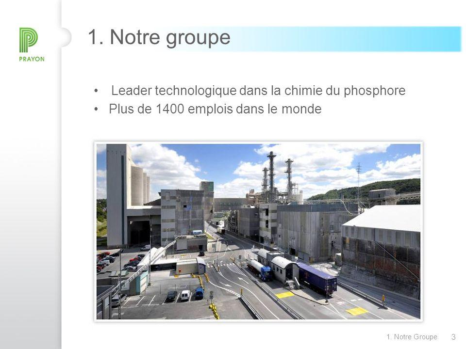 1. Notre groupe Leader technologique dans la chimie du phosphore