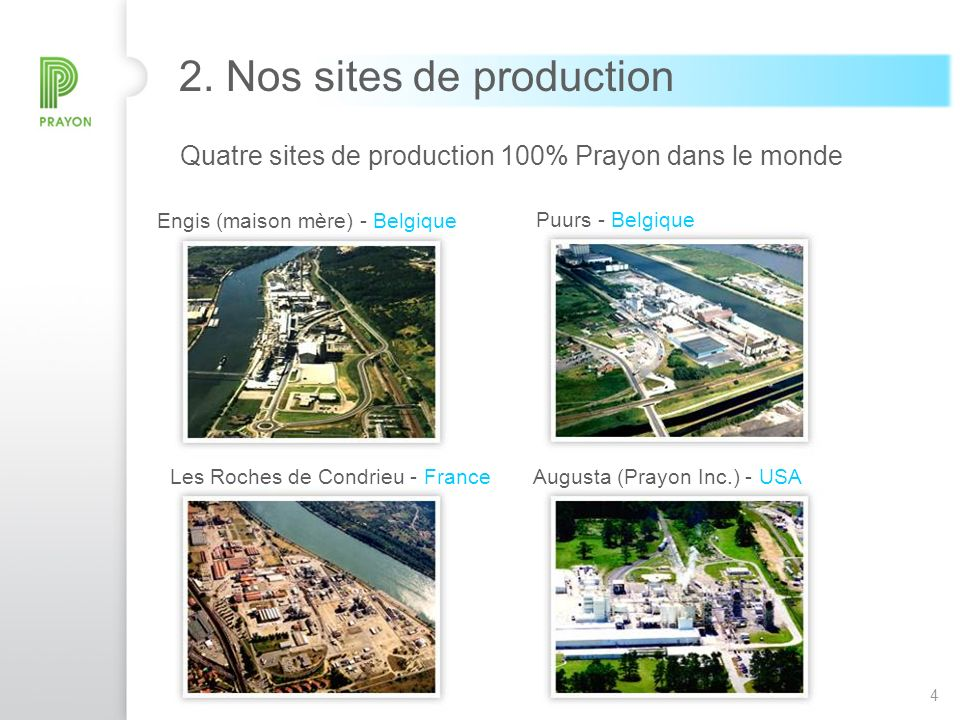 2. Nos sites de production
