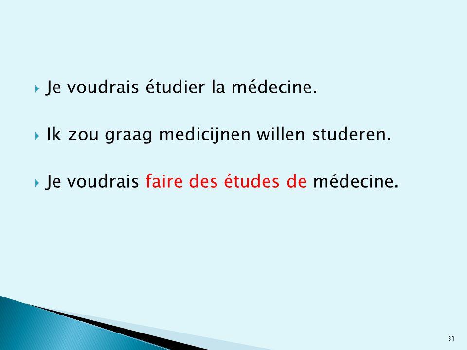 Je voudrais étudier la médecine.