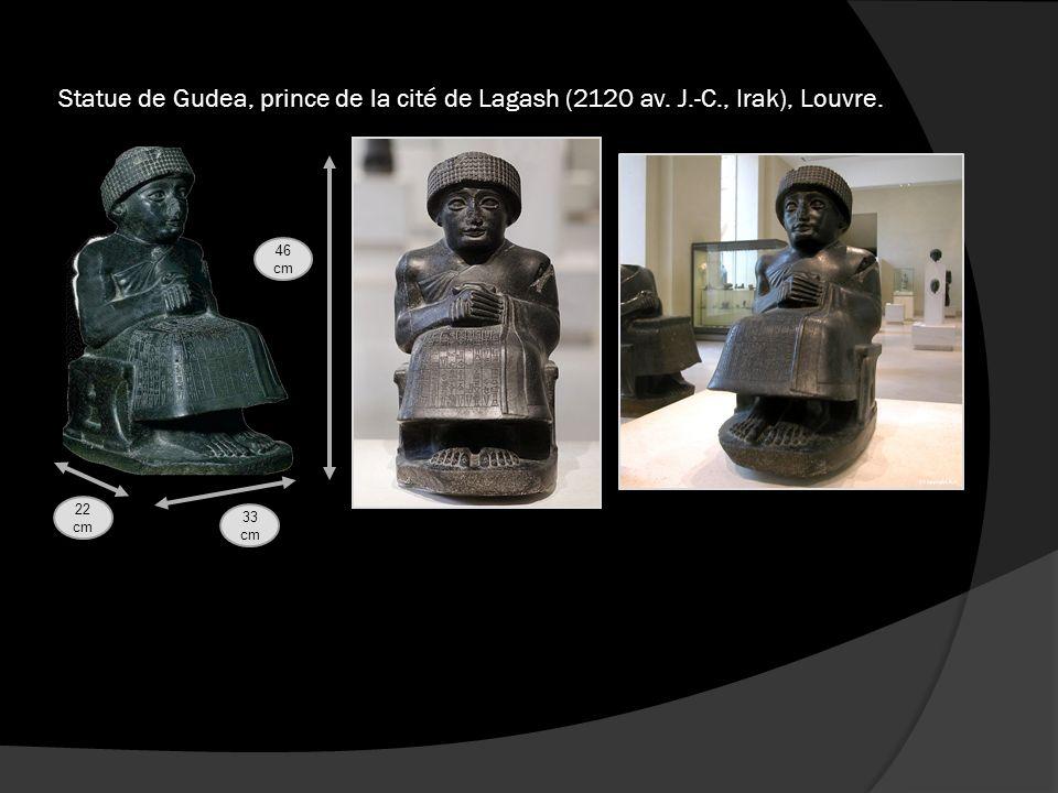 Statue de Gudea, prince de la cité de Lagash (2120 av. J. -C