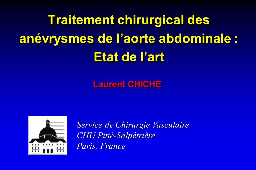 Traitement chirurgical des anévrysmes de l'aorte abdominale : Etat de l'art