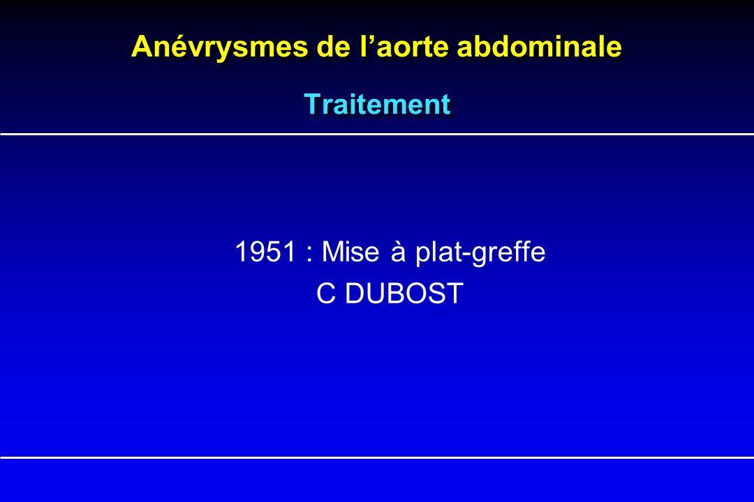 Traitement 1951 : Mise à plat-greffe C DUBOST
