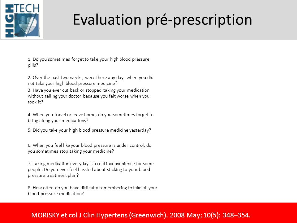 Evaluation pré-prescription
