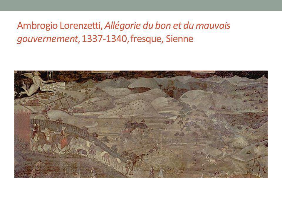 Ambrogio Lorenzetti, Allégorie du bon et du mauvais gouvernement, 1337-1340, fresque, Sienne