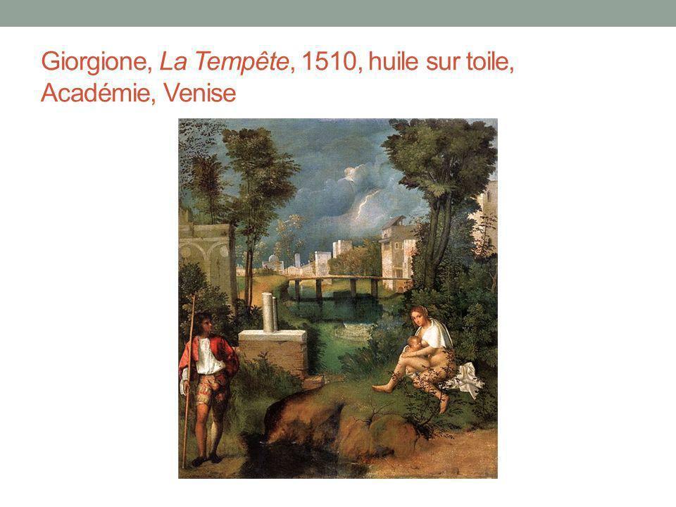 Giorgione, La Tempête, 1510, huile sur toile, Académie, Venise