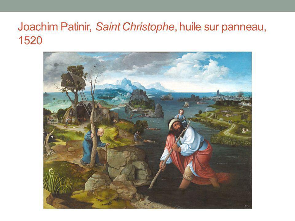 Joachim Patinir, Saint Christophe, huile sur panneau, 1520