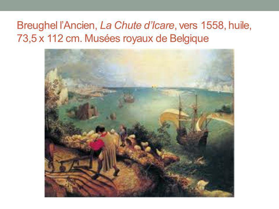 Breughel l'Ancien, La Chute d'Icare, vers 1558, huile, 73,5 x 112 cm