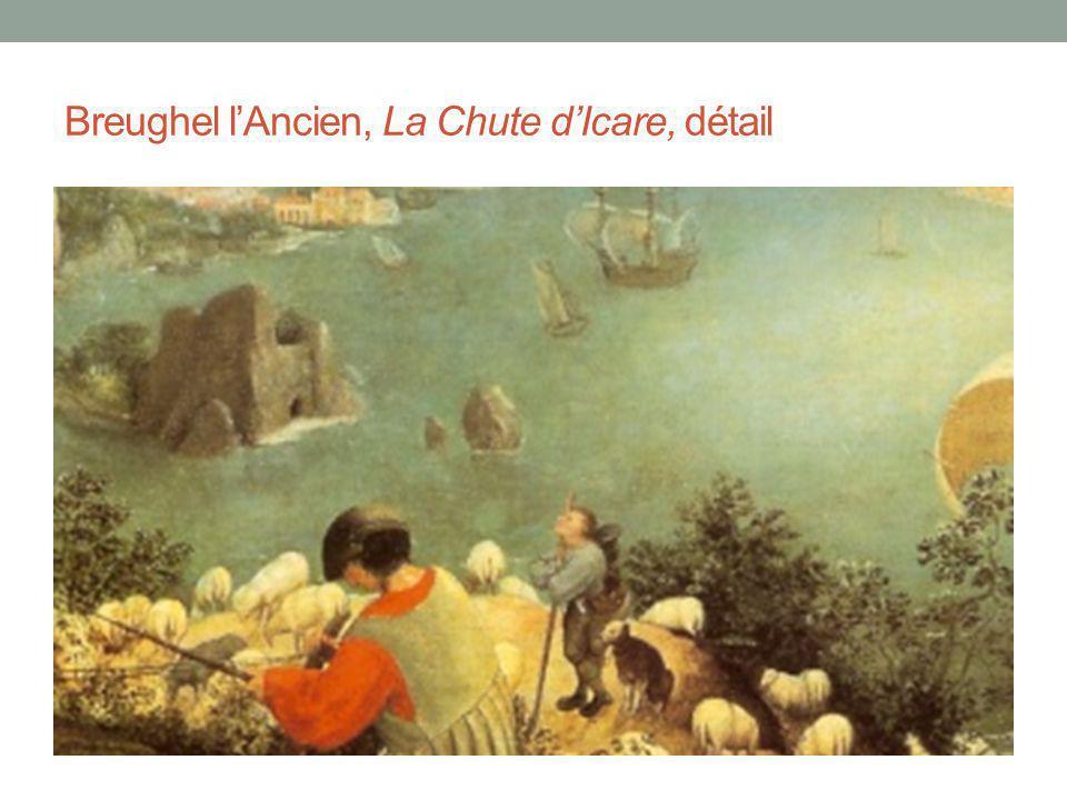 Breughel l'Ancien, La Chute d'Icare, détail