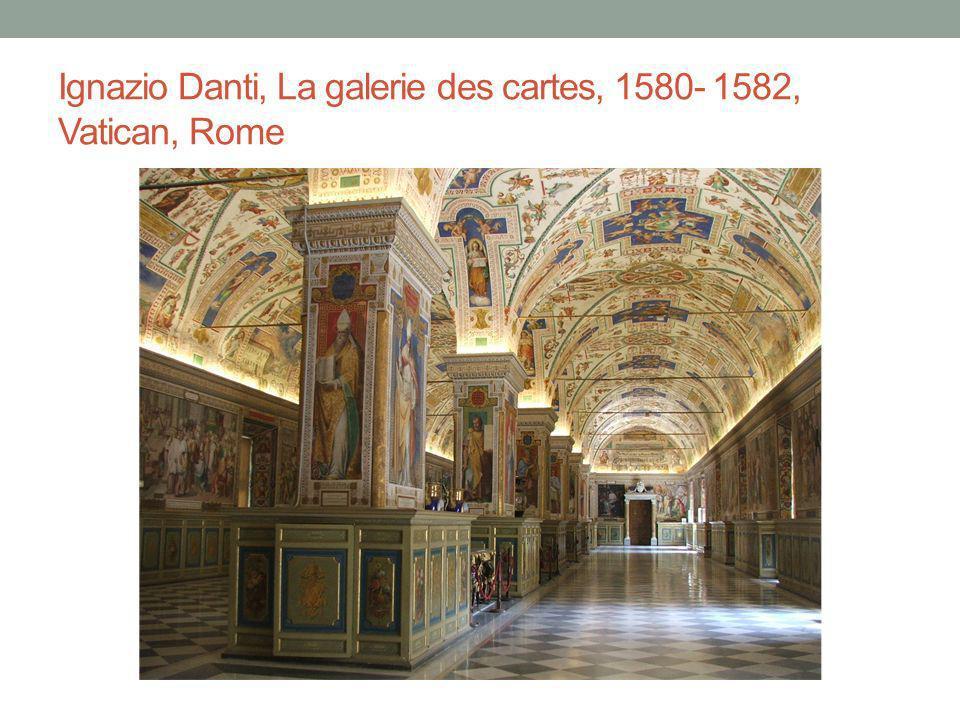Ignazio Danti, La galerie des cartes, 1580- 1582, Vatican, Rome
