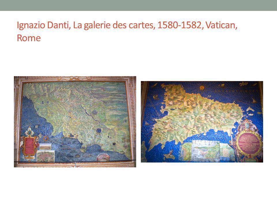 Ignazio Danti, La galerie des cartes, 1580-1582, Vatican, Rome