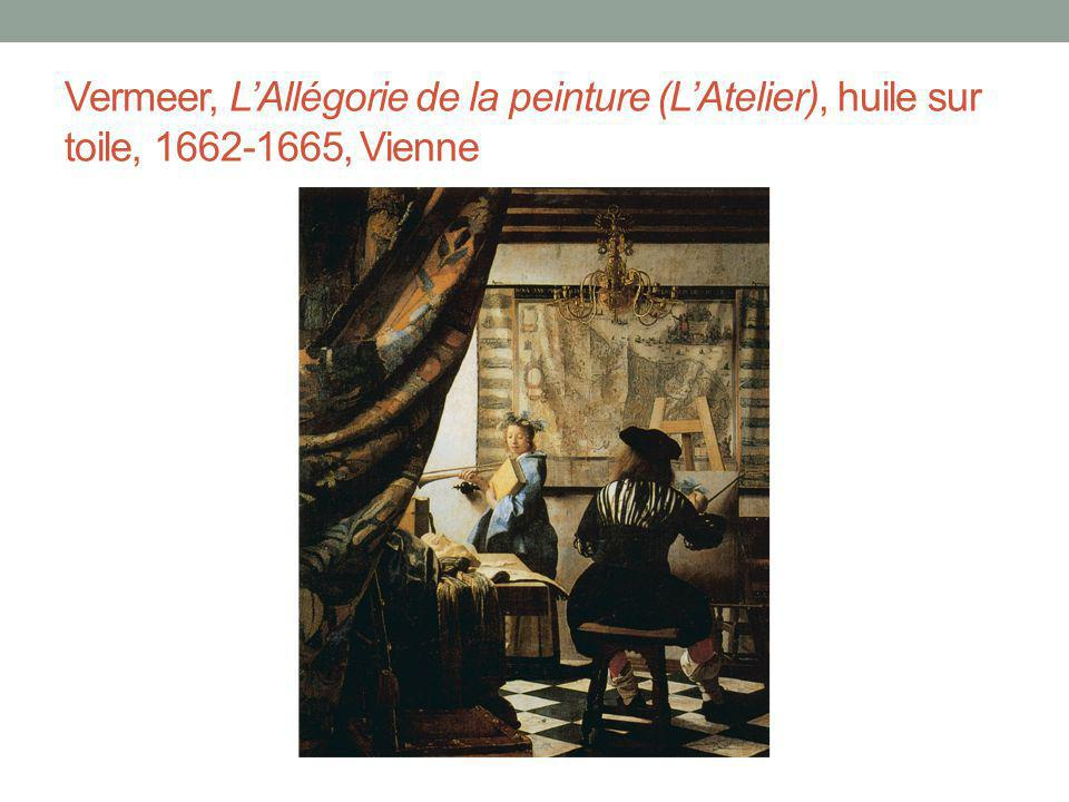 Vermeer, L'Allégorie de la peinture (L'Atelier), huile sur toile, 1662-1665, Vienne