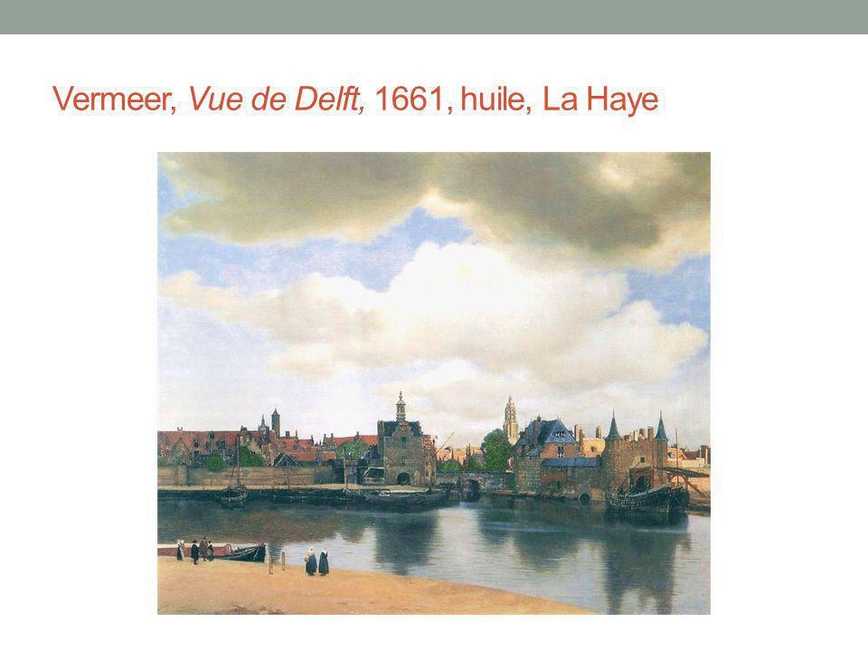 Vermeer, Vue de Delft, 1661, huile, La Haye