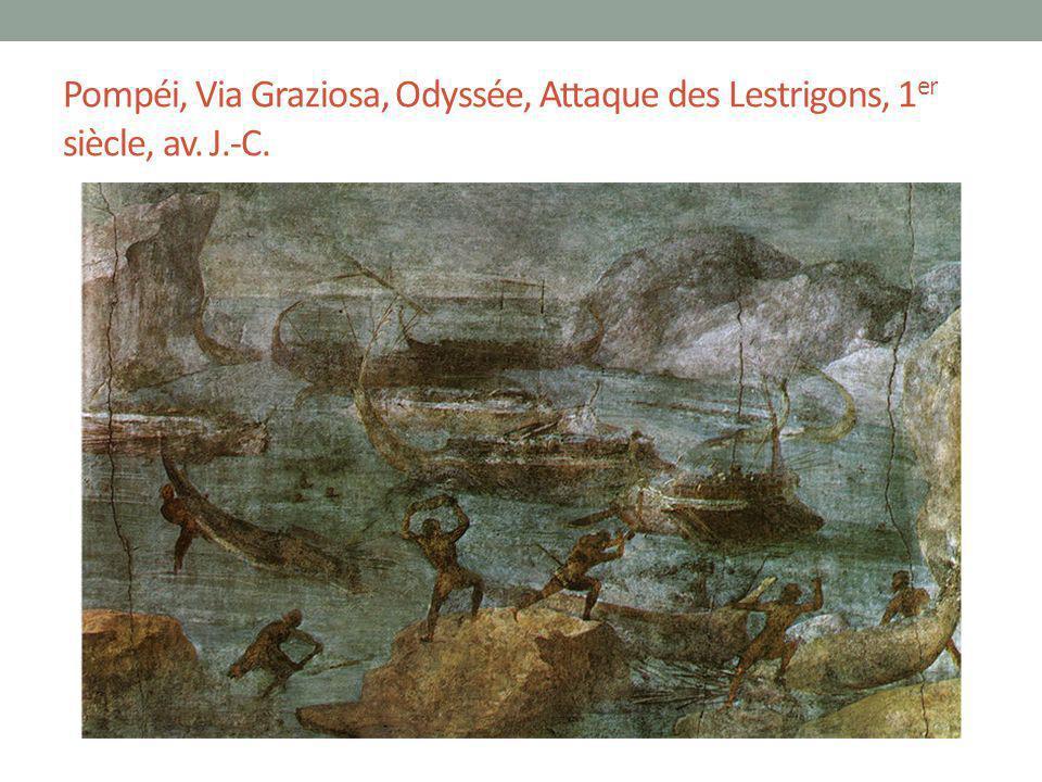 Pompéi, Via Graziosa, Odyssée, Attaque des Lestrigons, 1er siècle, av