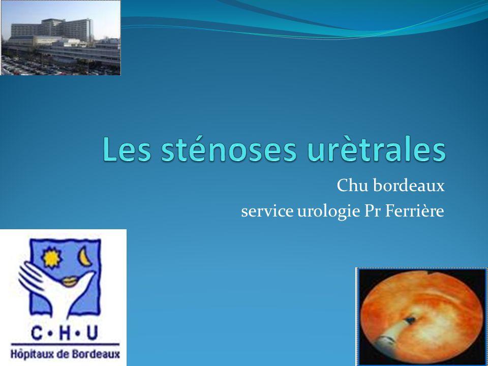 Les sténoses urètrales