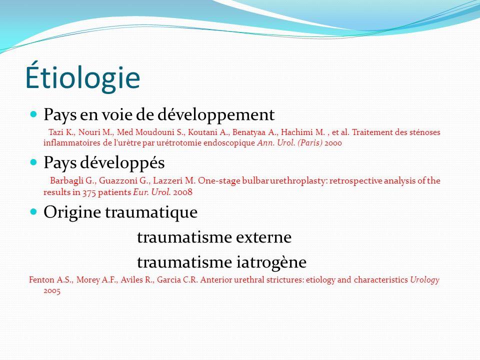 Étiologie Pays en voie de développement Pays développés