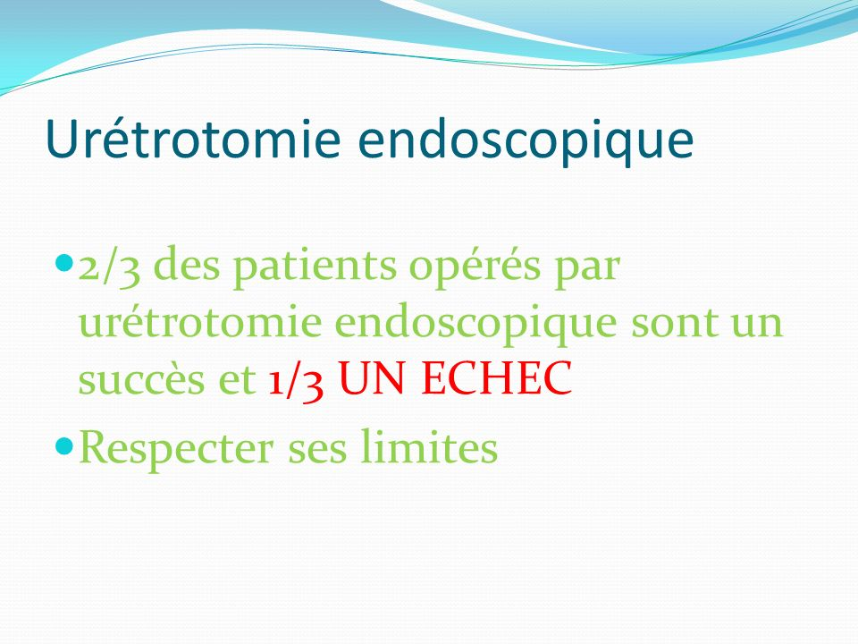 Urétrotomie endoscopique