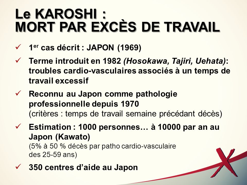 Le KAROSHI : MORT PAR EXCÈS DE TRAVAIL