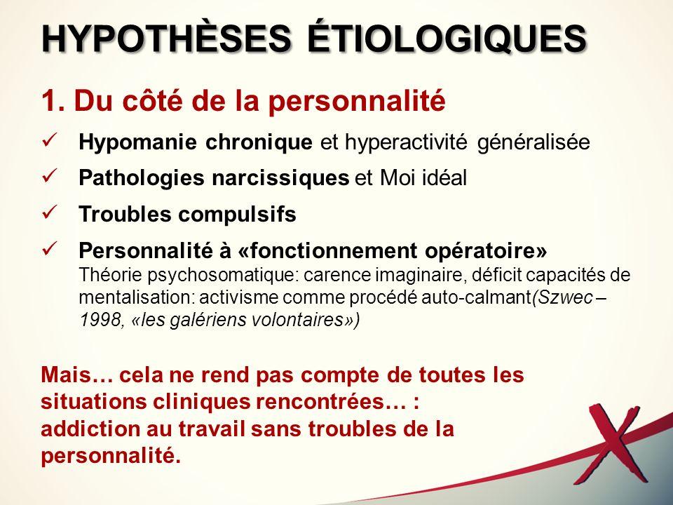 HYPOTHÈSES ÉTIOLOGIQUES
