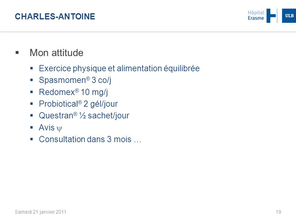 Mon attitude Charles-Antoine