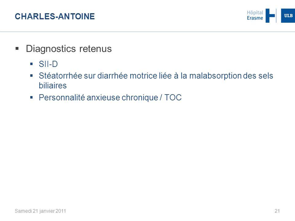 Diagnostics retenus Charles-Antoine SII-D