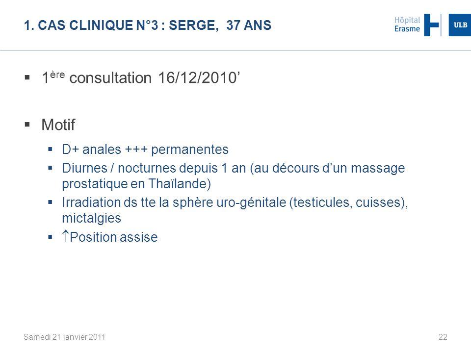 1. Cas clinique n°3 : Serge, 37 ans