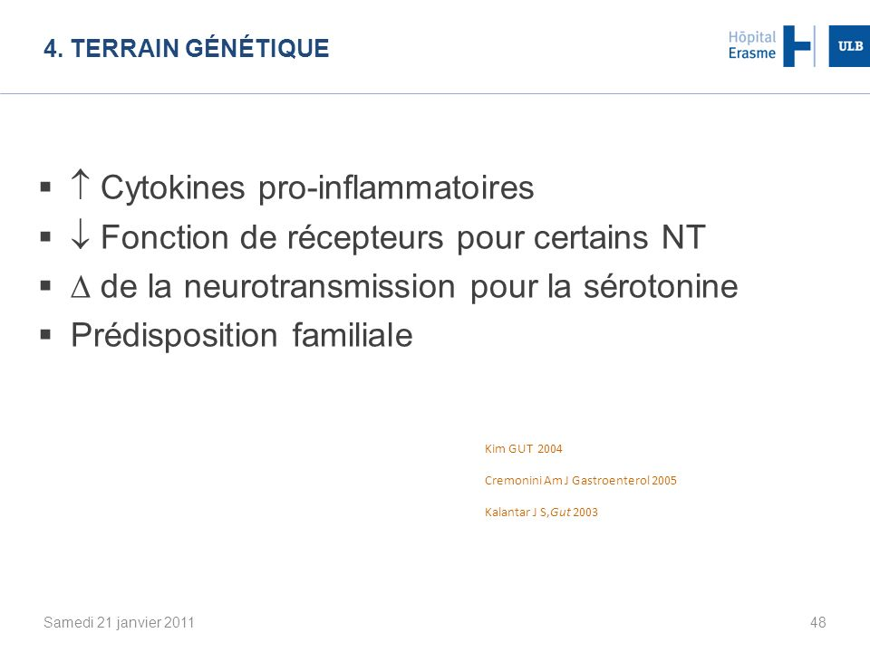  Cytokines pro-inflammatoires