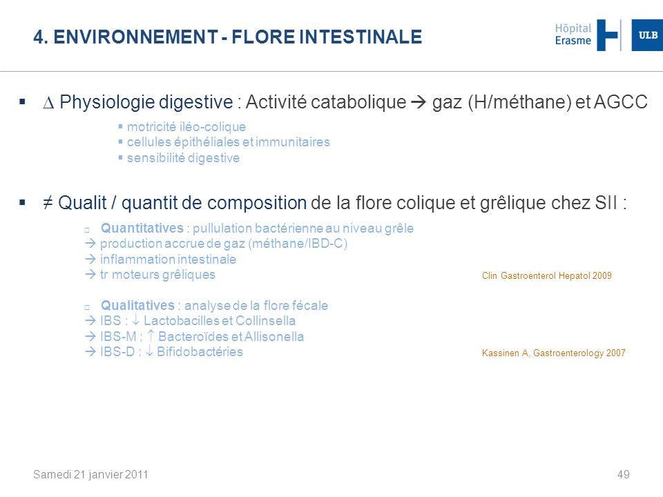4. Environnement - Flore intestinale