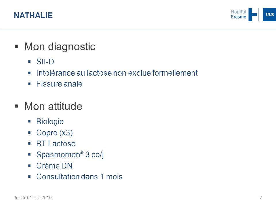Mon diagnostic Mon attitude Nathalie SII-D